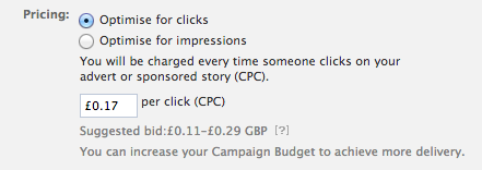 Facebook - Optimise For Clicks