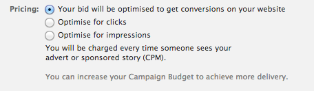 Facebook - Optimise For Conversions