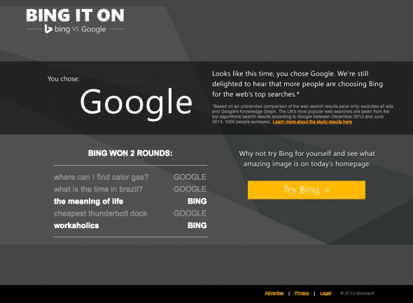 Bing It On - The Results